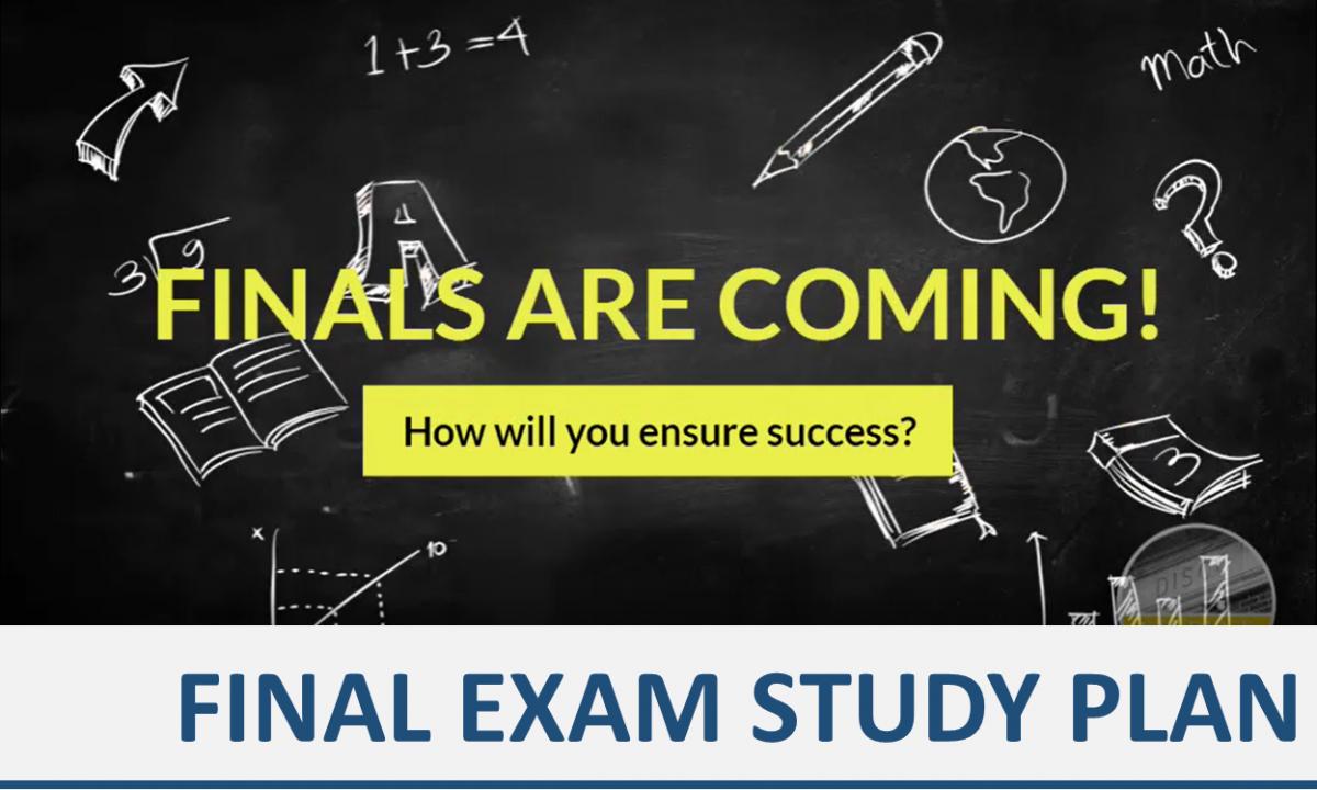 Final Exam Study Plan image